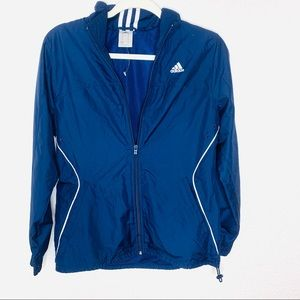 Adidas Light Weight Blue White Windbreaker Jacket